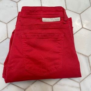 Calvin Klein Jeans size 8 red